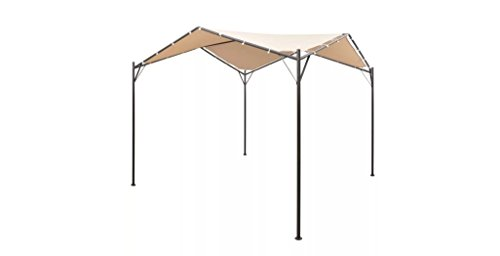 Comfyleads-Gazebo-Pavilion-Tent-Canopy-Steel-Beige-13-1-Inches-x-13-1-Inches-0