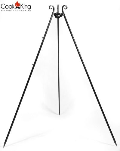 Cook-King-1112241-18037cm-Black-Steel-Barbeque-Tripod-0