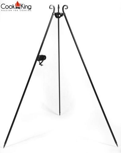 Cook-King-1112243-18037cm-Black-Steel-Barbeque-Tripod-With-Reel-0