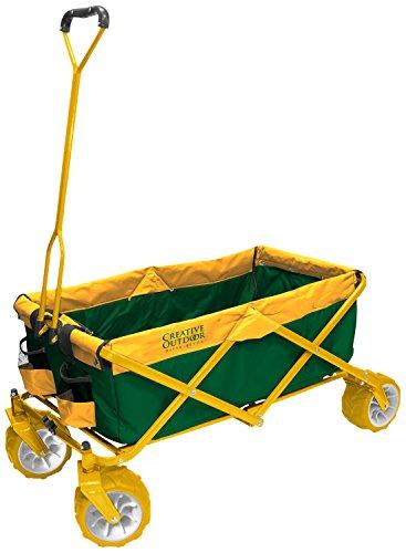 Creative-Outdoor-s-All-Terrain-Sports-Folding-Wagon-Green-Yellow-0