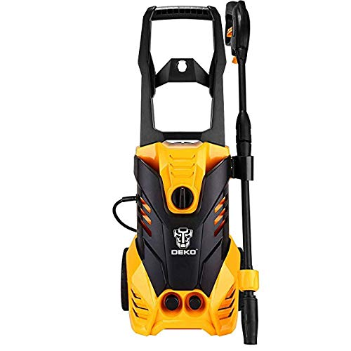 DEKOPRO-3000-PSI-17-GPM-Electric-Pressure-WasherHigh-Pressure-Cleaner-with-Turbo-Nozzle1800W-Rolling-Wheels-with-Temperature-Sensor-0