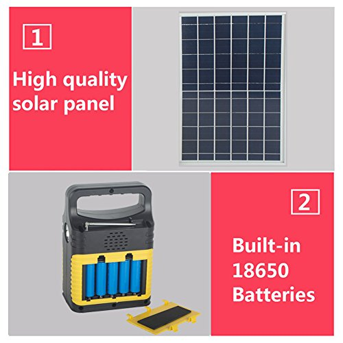 DODOING-Solar-Power-Generator-Portable-kit-Solar-Generator-System-for-Home-Garden-Outdoor-Camping-Power-Mini-DC6W-Solar-Panel-6V-9Ah-Lead-acid-Battery-Charging-LED-Light-USB-Charger-System-0-1