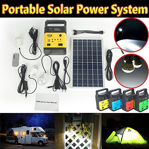DODOING-Solar-Power-Generator-Portable-kit-Solar-Generator-System-for-Home-Garden-Outdoor-Camping-Power-Mini-DC6W-Solar-Panel-6V-9Ah-Lead-acid-Battery-Charging-LED-Light-USB-Charger-System-0