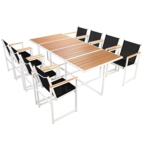 Daonanba-Outdoor-Furniture-Set-Patio-Dining-Set-Garden-Dining-Table-Chairs-Set-Aluminum-WPC-Brown-0