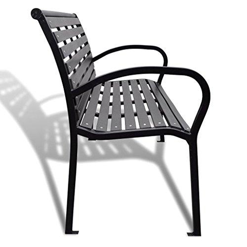 Daonanba-Strong-Steel-Garden-Bench-Comfortable-Patio-Chaise-Outdoor-Bench-Black-0-2