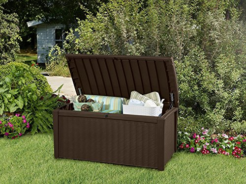 Deck-Box-for-Patio-Pool-Storage-Bench-in-Resin-110-Gallon-Extra-Large-Outdoor-Design-With-FREE-Padlock-0-1