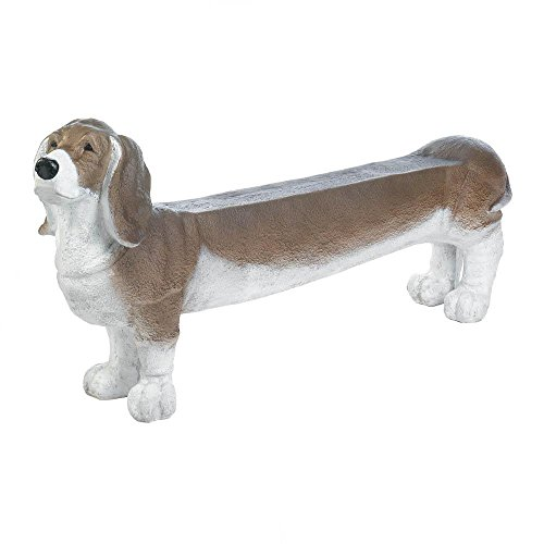 Decor-and-More-Store-Aborable-Basset-Hound-Doggy-Bench-Garden-Porch-Entry-0
