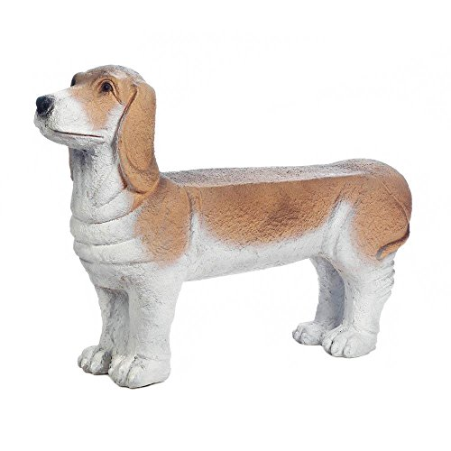 Decor-and-More-Store-Aborable-Basset-Hound-Puppy-Bench-Garden-Porch-Entry-0