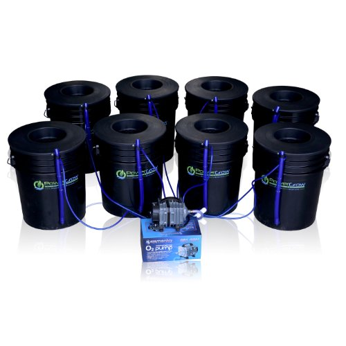 Deep-Water-Culture-DWC-Hydroponic-Bubbler-8-Bucket-Kit-with-6-Lids-by-PowerGrow–Systems-0