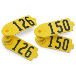 Destron-Fearing-SheepGoat-Numbered-Tags-Yellow-Numbers-126-150-C12289FN-0