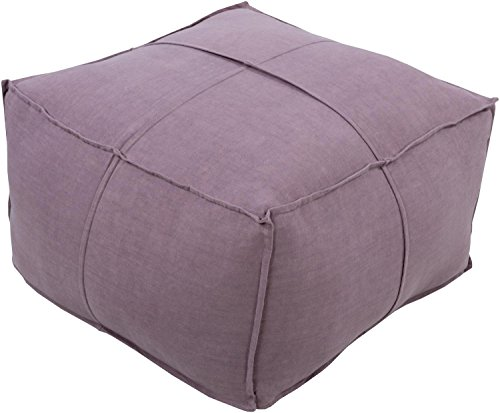 Diva-At-Home-24-Purple-Woven-and-Flange-Indoor-Decorative-Square-Pouf-Ottoman-0