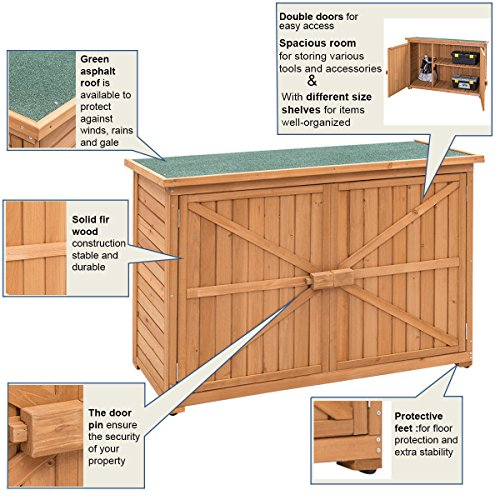 Double-Doors-Fir-Wooden-Garden-Yard-Shed-Lockers-Outdoor-Cabinet-Unit-For-Storage-0-2