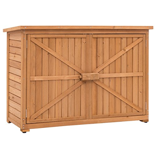 Double-Doors-Fir-Wooden-Garden-Yard-Shed-Lockers-Outdoor-Cabinet-Unit-For-Storage-0