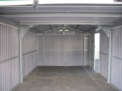 Duramax-55161-Metal-Garage-Shed-with-Side-Door-12-by-26-Inch-0-0