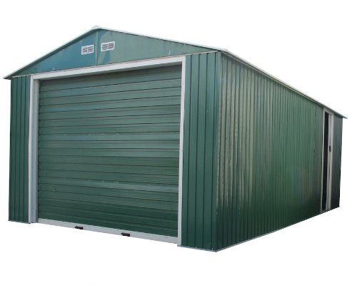 Duramax-55161-Metal-Garage-Shed-with-Side-Door-12-by-26-Inch-0