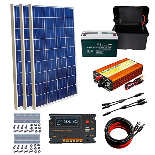 ECO-WORTHY-300W-Off-Grid-System-3X-100W-Solar-Panel-100AH-Battery-20A-Controller-Charging-12V-Home-Boat-Camp-with-100AH-Battery-0