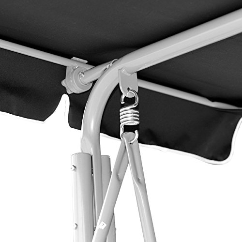 FDInspiration-Black-675-Patio-Textile-Fabric-Swing-Chair-Outdoor-Bench-Canopy-Sling-Chair-3-Person-0-1