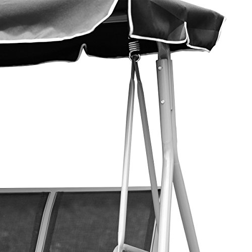 FDInspiration-Black-675-Patio-Textile-Fabric-Swing-Chair-Outdoor-Bench-Canopy-Sling-Chair-3-Person-0-2