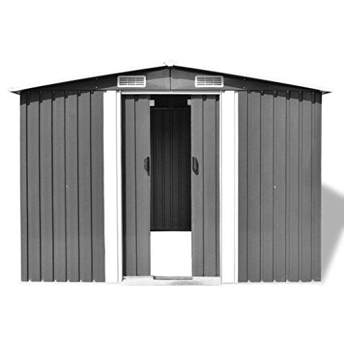 Festnight-Outdoor-Garden-Storage-Shed-Gray-Metal-1012-x-807-x-701-0-0