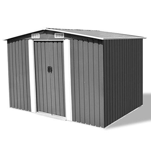 Festnight-Outdoor-Garden-Storage-Shed-Gray-Metal-1012-x-807-x-701-0