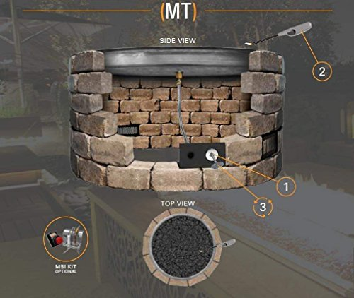 Firegear-Match-Light-Gas-Fire-Pit-Burner-Kit-FPB-25SFBS22MT-N-Square-Flat-Pan-25-x-25-inch-Natural-Gas-0-0