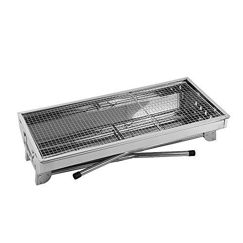 Fold-Barbecue-Charcoal-Grill-Stove-Shish-Kabob-Stainless-Steel-BBQ-Patio-Camping-0-0