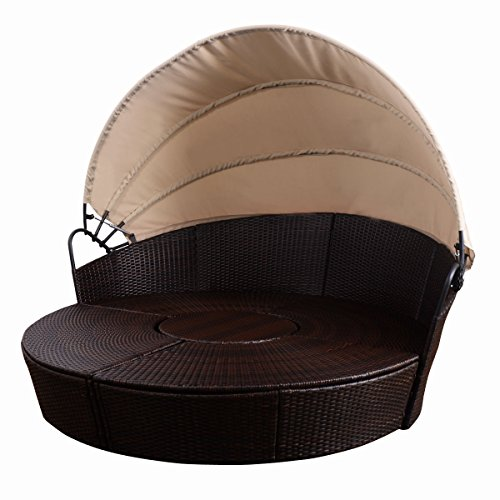 GG-Outdoor-Patio-Sofa-Canopy-Daybed-Furniture-Round-Retractable-Mix-Brown-Rattan-0-0