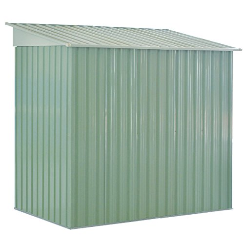 GHP-Outdoor-764Lx476Wx713H-Sturdy-White-and-Light-Green-Storage-Tool-House-0-2