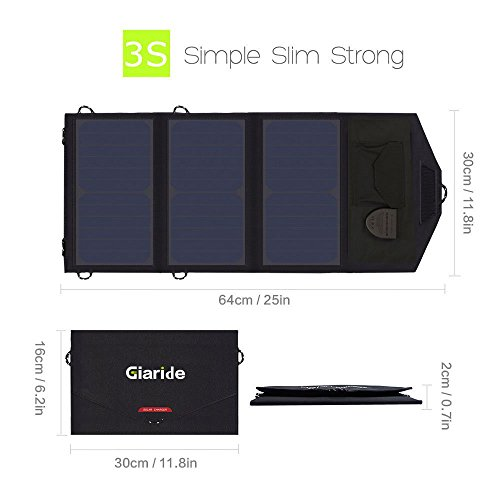 GIARIDE-Foldable-Solar-Charger-Fast-Charging-USB-DC-OutputSunpower-Panel-for-Laptop-Notebook-Tablet-iPad-iPhone-Samsung-CarBoatRV-Battery-Hiking-Climbing-Camping-Fishing-and-More-0-0
