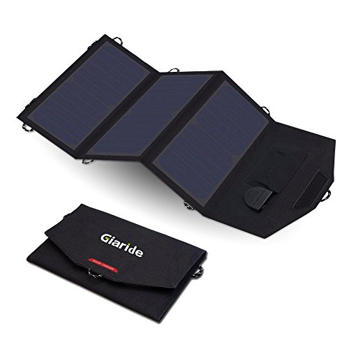 GIARIDE-Foldable-Solar-Charger-Fast-Charging-USB-DC-OutputSunpower-Panel-for-Laptop-Notebook-Tablet-iPad-iPhone-Samsung-CarBoatRV-Battery-Hiking-Climbing-Camping-Fishing-and-More-0