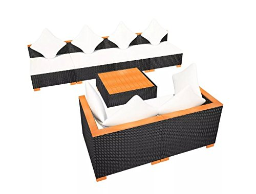 Garden-Lounge-Set-21-Pieces-Poly-Rattan-WPC-Top-Black-Outdoor-Stylish-Durable-Comfortable-Patio-Durable-PE-Rattan-WPC-armrests-Powder-Coated-Steel-Frame-1094-x-547-x-226-SKB-Family-0-2