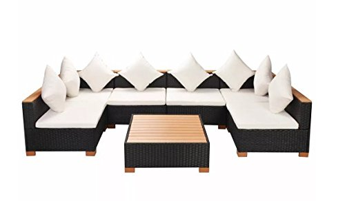 Garden-Lounge-Set-21-Pieces-Poly-Rattan-WPC-Top-Black-Outdoor-Stylish-Durable-Comfortable-Patio-Durable-PE-Rattan-WPC-armrests-Powder-Coated-Steel-Frame-1094-x-547-x-226-SKB-Family-0