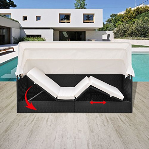 Garden-Rattan-Sun-Lounger-Sofa-Bed-Daybed-Outdoor-BlackBrown-with-Canopy-Shade-0-0