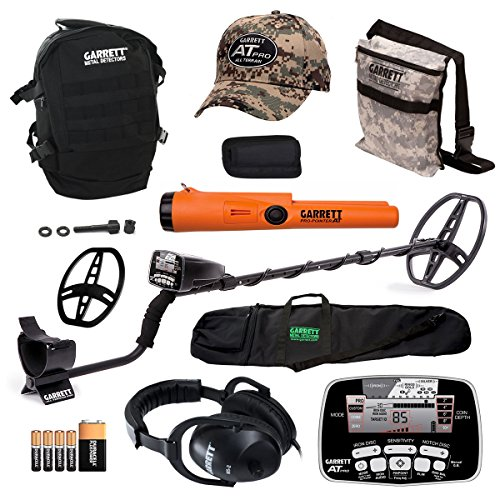 Garrett-AT-PRO-Metal-Detector-Bonus-Pack-with-Pro-Pointer-AT-Headphones-Pouch-Backpack-Hat-Searchcoil-Cover-and-50-Travel-Bag-0