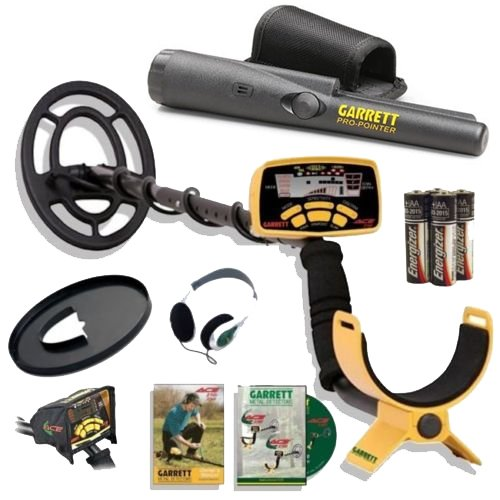 Garrett-Ace-250-Metal-Detector-Discovery-Pack-with-Pro-Pointer-65×9-Coil-Coil-Cover-Headphones-Rain-Cover-0