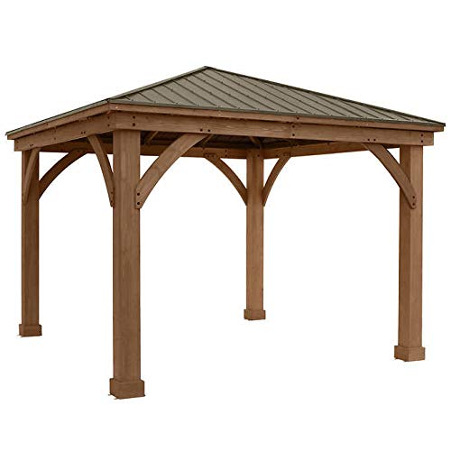 Gazebo-with-Aluminum-Roof-by-Yardistry-Cedar-Wood-12-x-12-Perfect-Addition-for-Patio-or-Garden-0-0