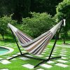 Giantex-Double-Hammock-with-Space-Saving-Steel-Stand-WPortable-Carry-Bag-Powerful-Capacity-0-1