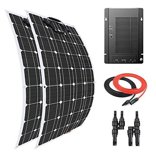 Giosolar-200-Watt-Flexible-Solar-Panel-Kit-Battery-Charger-Monocrystalline-with-MPPT-40A-Charge-Controller-for-Boat-Marine-Off-Grid-0