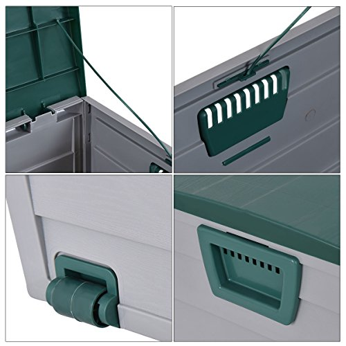 Globe-House-Products-GHP-44x20x22-Gray-Green-7-Gallon-Capacity-Patio-Garage-Deck-Storage-Bench-0