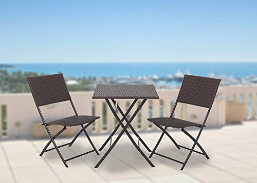 Grand-patio-Parma-Rattan-Patio-Bistro-Set-Weather-Resistant-Outdoor-Furniture-Sets-with-Rust-proof-Steel-Frames-3-Piece-Bistro-Set-of-Foldable-Garden-Table-and-Chairs-Brown-0-0