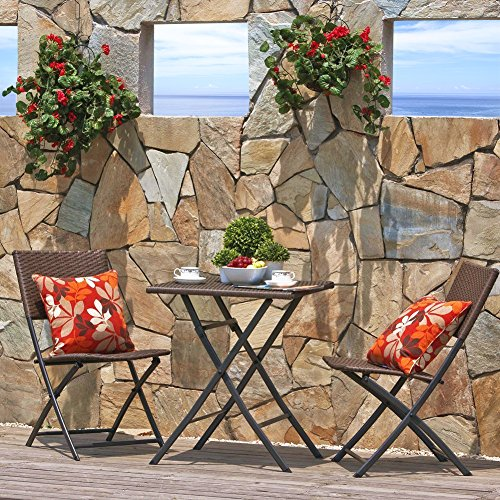 Grand-patio-Parma-Rattan-Patio-Bistro-Set-Weather-Resistant-Outdoor-Furniture-Sets-with-Rust-proof-Steel-Frames-3-Piece-Bistro-Set-of-Foldable-Garden-Table-and-Chairs-Brown-0-2