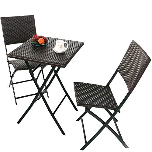 Grand-patio-Parma-Rattan-Patio-Bistro-Set-Weather-Resistant-Outdoor-Furniture-Sets-with-Rust-proof-Steel-Frames-3-Piece-Bistro-Set-of-Foldable-Garden-Table-and-Chairs-Brown-0