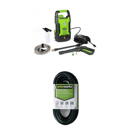 GreenWorks-GPW1501-13-amp-1500-PSI-12-GPM-Electric-Pressure-Washer-and-50-IndoorOutdoor-Extension-Cord-0