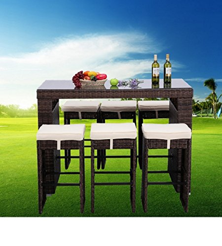 HTTH-7-Piece-Outdoor-Rattan-Wicker-Bar-Table-Chairs-Patio-Dining-Set-0