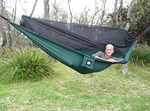 Hammock-Bliss-No-See-Um-No-More-The-Ultimate-Bug-Free-Camping-Hammock-100-250-cm-Rope-Per-Side-Included-Fully-Reversible-Ideal-Hammock-Tent-For-Camping-Backpacking-Kayaking-Travel-0-2