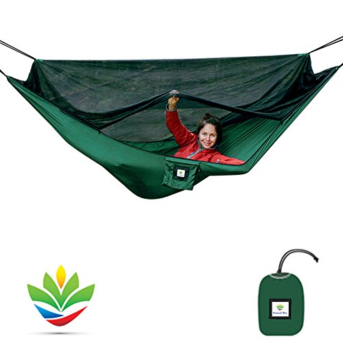 Hammock-Bliss-No-See-Um-No-More-The-Ultimate-Bug-Free-Camping-Hammock-100-250-cm-Rope-Per-Side-Included-Fully-Reversible-Ideal-Hammock-Tent-For-Camping-Backpacking-Kayaking-Travel-0