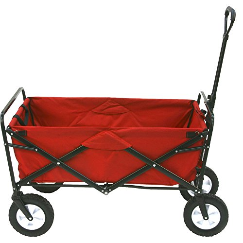 Heavy-Duty-Collapsible-Wagon-Fold-Up-Utility-Cart-Garden-Folding-Carts-Dump-Cart-Tools-Carrier-Wheel-Durable-4-Wheel-Adjustable-Handle-Easy-Transport-Movement-Camping-Outdoor-Lawn-eBook-By-NAKSHOP-0-1