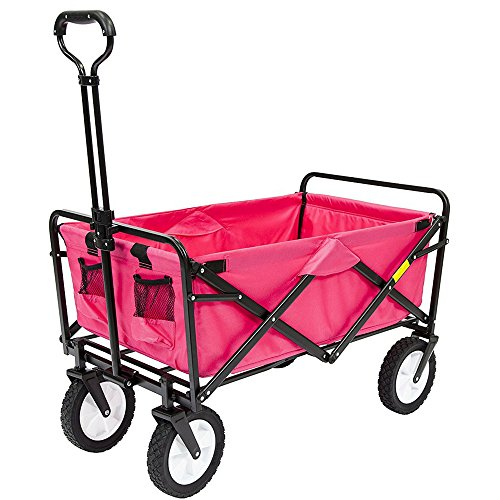 Heavy-Duty-Collapsible-Wagon-Fold-Up-Utility-Cart-Garden-Folding-Carts-Dump-Cart-Tools-Carrier-Wheel-Durable-4-Wheel-Adjustable-Handle-Easy-Transport-Movement-Camping-Outdoor-Lawn-eBook-By-NAKSHOP-0-2
