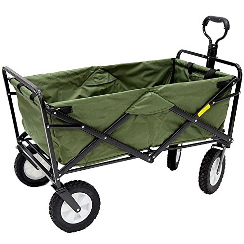 Heavy-Duty-Collapsible-Wagon-Fold-Up-Utility-Cart-Garden-Folding-Carts-Dump-Cart-Tools-Carrier-Wheel-Durable-4-Wheel-Adjustable-Handle-Easy-Transport-Movement-Camping-Outdoor-Lawn-eBook-By-NAKSHOP-0-3