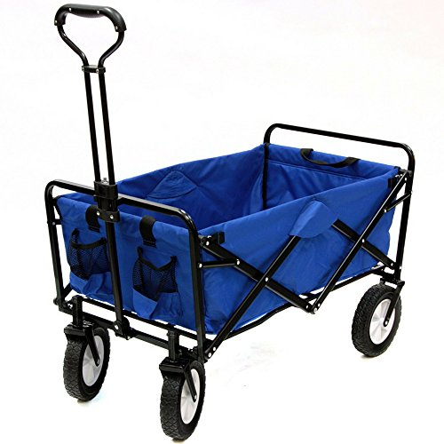 Heavy-Duty-Collapsible-Wagon-Fold-Up-Utility-Cart-Garden-Folding-Carts-Dump-Cart-Tools-Carrier-Wheel-Durable-4-Wheel-Adjustable-Handle-Easy-Transport-Movement-Camping-Outdoor-Lawn-eBook-By-NAKSHOP-0-5